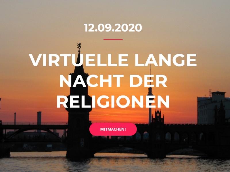"""""""Gemeinsam werden wir Licht"""": Auftaktveranstaltung zur Langen Nacht der Religionen 2020"""