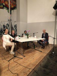 Diskussionsrunde mit Almut Veith, Ulrike Gehde, Ranjit Kaur und Michael Bäumer (Moderation)