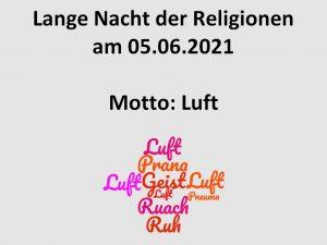 Lange Nacht der Religionen 2021