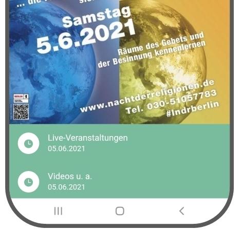Programm zur Langen Nacht der Religionen am 5. Juni 2021